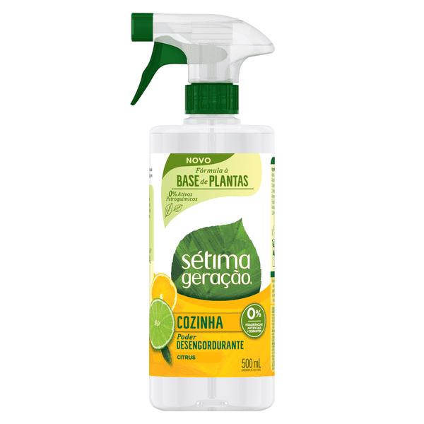 Frente Limpador Banheiro Spray 500ML, Verso Limpador Banheiro Spray 500ML